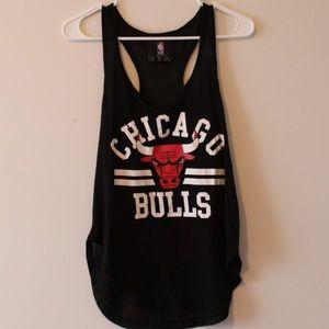 Black Chicago Bulls Mesh Back Tank Top